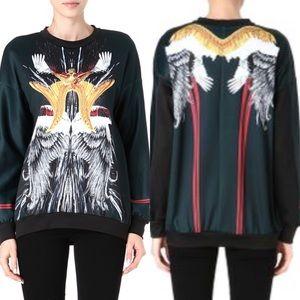 Clover Canyon Royal Wings Graphic Sweatshirt XS